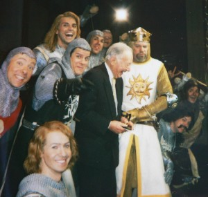 Jerome Rosenfeld, at age 97, on stage at the Colonial Theatre