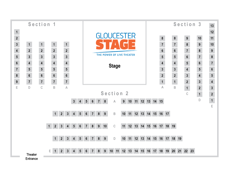 Gloucester Stage Company seating chart